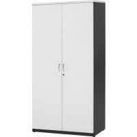 LOGAN STATIONERY CUPBOARD 1800x900mm White & Ironstone