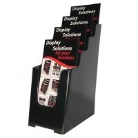 Deflecto Brochure Holder DL 4Tier Black 97704