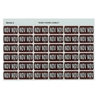 Avery Coding Label Month PK180 43411 (NOV) 25x38mm Brown
