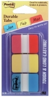 Post It Durable Tabs Flat 686-RYB 3pack