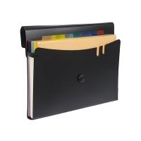 Marbig Professional Expanding File 7 Pocket BX6 Black