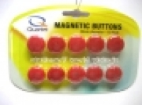 Quartet Whiteboard Buttons Magnetic 20mm Pkt10 Red