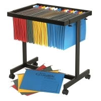 Crystalfile Suspension File Trolley Black Adjustable 48500