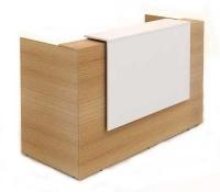 Sorrento Reception 1500x840x1150mm Counter Beech/White