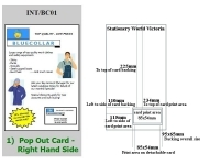 Integrated Business Cards INT/BC01 PK100 -Right Hand Side