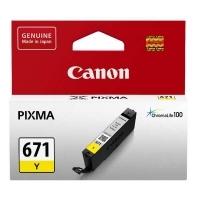 Canon Ink Cartridge CLI671Y (671Y) Yellow