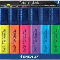 STAEDTLER TEXTSURFER CLASSIC 364 HIGHLIGHTER WLT6 ASSTD 364-WP6
