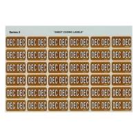 Avery Coding Label Month PK180 43412 (DEC) 25x38mm Orange