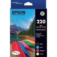 Epson 220 4 Color Ink Cartridge Value Pack