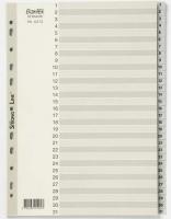 Divider A4 PVC Grey 1-31 Bantex 6212