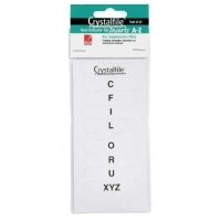 Crystalfile Suspension File Tab Inserts PK60 A-Z White 111540C