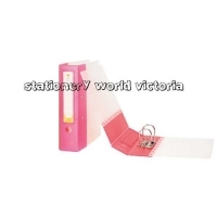 MARBIG Moulded Lever Arch File A4 Pink /Clear