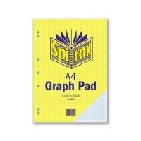 Spirax Graph Pad 801 A4 1mm 25Leaf T/O Pack 10