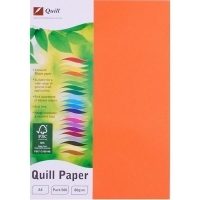 Quill Coloured Paper A4 80gsm Pack 500 - Orange
