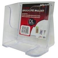 Deflecto Brochure Holder DL Portrait Clear Lowback 75001