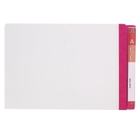 AVERY LATERAL FILE Mylar Reinfcd Tabs Fcap 42430 Pink/Clear