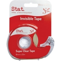 STAT Invisible Clear Tape & Dispenser 18mm x 33M BX12