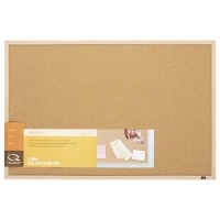 Quartet Corkboard Oak Frame QT35-380352Q 890x580mm