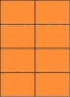 Custom Label 414 A4 BX100 8/sheet Fluro Orange 105x74