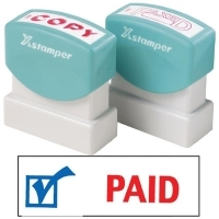XSTAMPER STAMP - Paid (2 colour) 2024 (5020240)