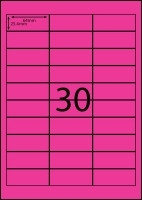Rediform Colour Labels A4 Bx100 (30/sh) 64x25.4 Flouro Pink