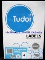 Tudor Laser Inkjet Labels A4 BX100 141070 (4/sh) 105x148mm