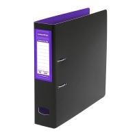 Colourhide Mighty A4 PP Lever Arch File BX6 Purple/Black