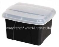 Crystalfile Enviro Porta Box 8008410 Black/Clear Lid
