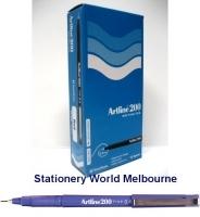 Artline Fineliner Marking Pens No 200 (0.4mm) BX12 Purple