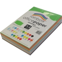 Rainbow Colour Copy Paper A4 80gsm 10 Asstd (ream-500sheets)