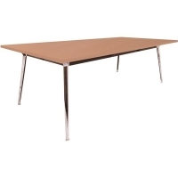 Rapid Air Boardroom Table  Beech top Single Stage 2400x1200mm