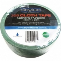 Stylus 399 Cloth Binding Tapes (Pack 8 rolls) 48mm x 25Mt Green