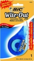BIC Wite Out Correction Tape 4.2mm x 12M Blister Card 50523