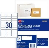 Avery 938211 General Use Labels L7158GU BX100 30/sheet