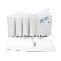 Bantex Insert Binder A4 2D 38mm (300page) White BX15 NO LABEL
