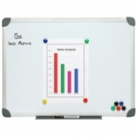 NOBO Commercial Magnetic Whiteboard B2120240 2400x1200mm