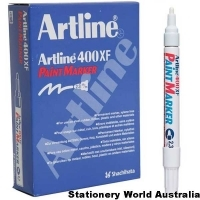 Artline 400XF Paint Marker 2.3mm White BX12