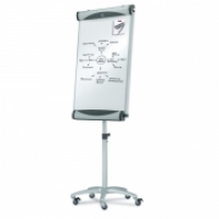 Quartet Flipchart Easel Magnetic Porcelain Whiteboard Mobile