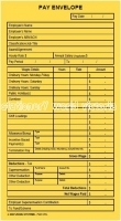 Zions PPL Printed Pay Envelope 90x165mm S/S Gold Kraft BX500