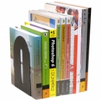 Marbig Metal Book Ends 8701502 Black