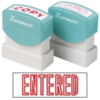 XSTAMPER STAMP - ENTERED (Red) 1021 (5010210)