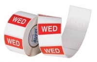 Avery Food Rotation Label 40mm WEDNESDAY Removable 500/Roll