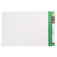 AVERY LATERAL FILE Mylar Reinfcd Tabs Fcap 42434 Lt Green/Clear
