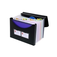 Marbig Expanding File With Storage Box 90022 Black