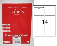 Rediform Labels Multipurpose A4 BX100 LA4/14L (14/sh) 99x38.1