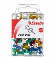 Esselte Push Pins 45110 PK50 Assorted