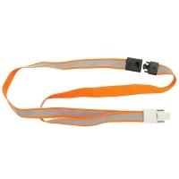 Rexel Reflective Fluorescent Orange Lanyards Pkt 5