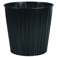 Esselte 30492 Elements Fluteline Metal Waste Bin 15L Black