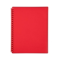 Marbig A4 Refillable Display Book 20pocket 2007003 Red
