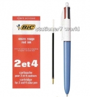BIC Pen Refilll 2092 RED - to suit 2colour/4colour pens